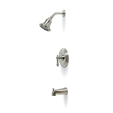 Premier Faucet Charlestown Single Handle Volume Control Tub and Shower Faucet; PVD Brushed Nickel