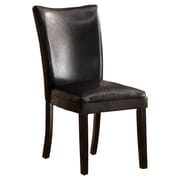 Hokku Designs Lax Contemporary Side Chair (Set of 2); Black