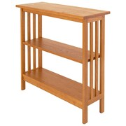 Manchester Wood Console 30'' Standard Bookcase; Golden Oak