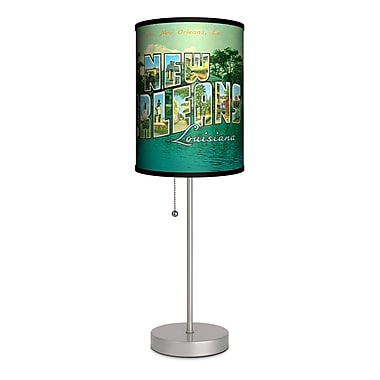 Lamp-In-A-Box Travel New Orleans Postcard 20'' Table Lamp