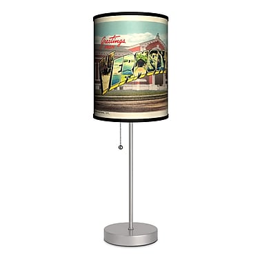 Lamp-In-A-Box Travel Vermont Postcard 20'' Table Lamp