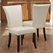 Home Loft Concepts Columbia Leather Dining Chair (Set of 2)