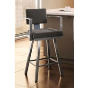 Amisco Urban Style 26.25'' Swivel Bar Stool with Cushion