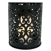 Flipo Pacific Accents Montrose Indoor/Outdoor Scroll Sconce; Black