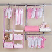 Delta Children Deep Nursery Closet Organizer 24 Piece Set; Pink