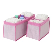Delta Children 2 Piece Nursery Organizer Bin Set; Pink