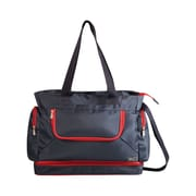 Picnic Time Beach Tote; Grey / Red