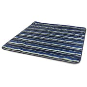 Picnic Time Vista Outdoor Blanket; Navy Blue / Lime