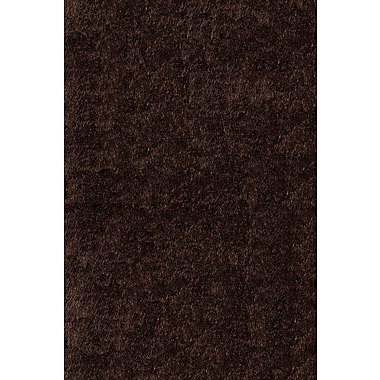 Momeni Luster Shag Hand-Tufted Brown Area Rug; 8' x 10'