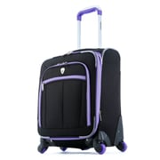 Olympia O-Tron 22'' Carry-On Spinner Suitcase; Purple
