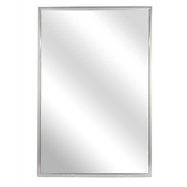 Bradley Corporation Fixed Angle Tilt-Frame Wall Mirror; 36'' H x 24'' W