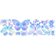 4 Walls Fluttering Butterfly Wall Decal; Blue