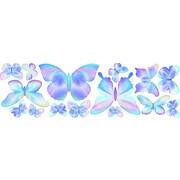 4 Walls Fluttering Butterfly Wall Decal; Blue