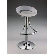 Creative Images International Adjustable Height Bar Stool; White