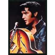 Amanti Art Elvis - the King of Rock n Roll Framed Photographic Print