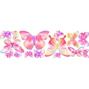 4 Walls Fluttering Butterfly Wall Decal; Pink