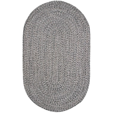 Thorndike Mills Town Crier Green Heather Indoor/Outdoor Rug; Oval 4' x 6'