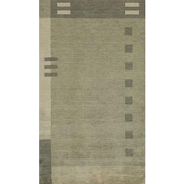 Momeni Gramercy Hand-Woven Green Area Rug; 3'6'' x 5'6''