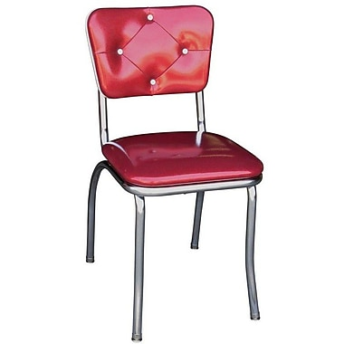 Richardson Seating Retro Home Side Chair; Glitter Sparkle Red