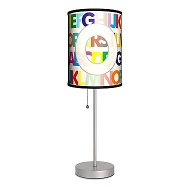 Lamp-In-A-Box Monograms Modern Letter 20'' Table Lamp; O