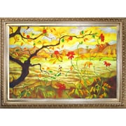 Tori Home Apple Tree with Red Fruit by Paul-Elie Ranson Framed Hand Painted Oil on Canvas