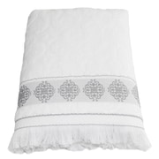 Linum Home Textiles Aegean ''Fringe'' Bath Sheet; White