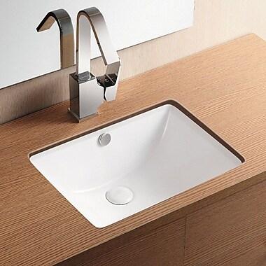Caracalla Ceramica II Rectangular Undermount Bathroom Sink w/ Overflow