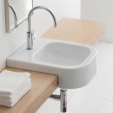 Scarabeo by Nameeks Next Rectangular Ceramic Semi-Recessed Sink