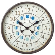 CBK Distressed Porthole 22.72'' Wall Clock with Moon Phases