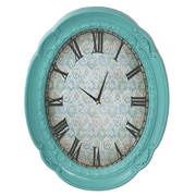 CBK Oval Ornate Frame 16.74'' Wall Clock