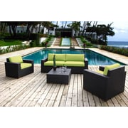 Bellini Pasadina 5 Piece Deep Seating Group with Cushions; Green