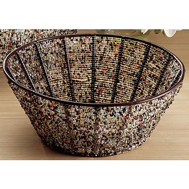 St. Croix Kindwer Round Iron Basket w/ Beads