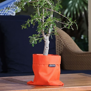 Greenbo Home and Garden Fiorina Natural Fibers Pot Planter (Set of 2); Orange