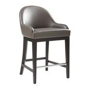 Sunpan Modern 5West Haven 26'' Bar Stool with Cushion; Grey