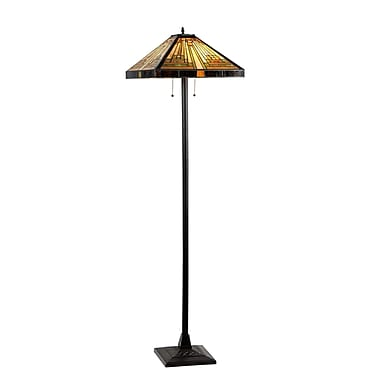Chloe Lighting Mission Innes 64.8'' Tiffany Floor Lamp