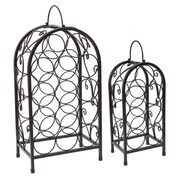 Old Dutch Set/2 Nesting Matte Black Wine Racks