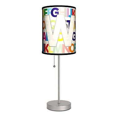 Lamp-In-A-Box Monograms Modern Letter 20'' Table Lamp; W