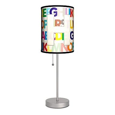 Lamp-In-A-Box Monograms Modern Letter 20'' Table Lamp; H