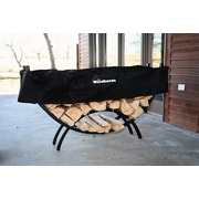 Woodhaven Steel Crescent Log Rack; 36'' H x 60'' W x 15'' D