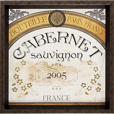 Propac Images Wine Labels 4 Piece Framed Vintage Advertisement Set