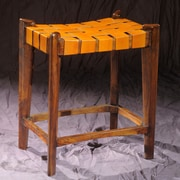 William Sheppee Old Glory City 27'' Bar Stool; Mustard