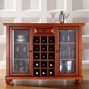 Crosley Alexandria Cambridge Bar Cabinet with Wine Storage; Classic Cherry