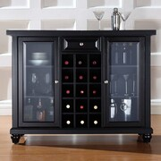 Crosley Alexandria Cambridge Bar Cabinet with Wine Storage; Black