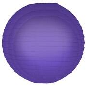 Luminarias 6 Piece Round Paper Lantern Set; Purple