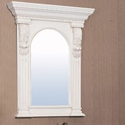 Legion Furniture Hampshire Mirror; Ivory White