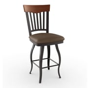Amisco Countryside Style 26.5'' Swivel Bar Stool with Cushion
