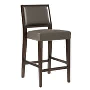 Sunpan Modern 5West 26'' Citizen Bar Stool with Cushion; Grey