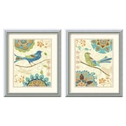 Amanti Art 'Eastern Tale Birds' by Daphne Brissonnet 2 Piece Framed Painting Print Set