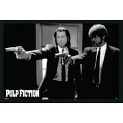 Amanti Art Pulp Fiction Duo Guns Framed Photographic Print