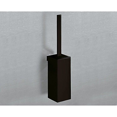 Gedy by Nameeks Lounge Wall MountedToilet Brush and Holder; Matte Black
